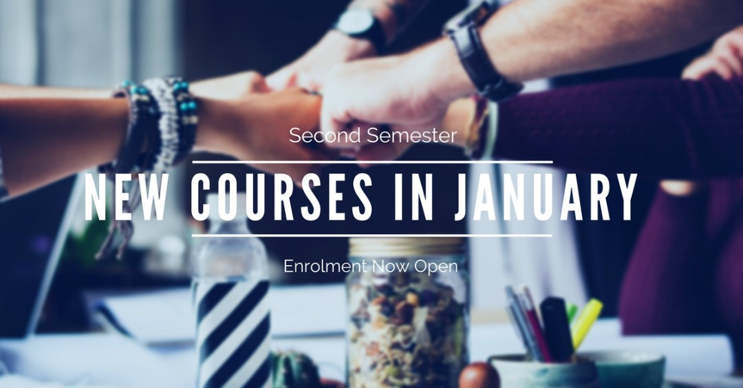 January New courses Poster 2017